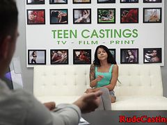 Cute teen hardfucked at ### casting