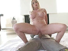 Evita got her sweet pussy pounded as her huge jugs bounce.