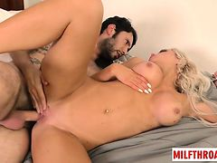Big tits milf reverse cowgirl with cumshot