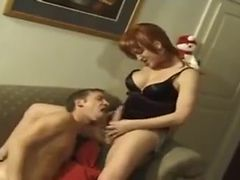 Redhead shemale olivia fucking her lover