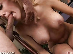 Hot blonde face fucked