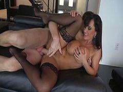 Fabulous pornstar Lisa Ann in incredible big dick, cumshots xxx video