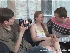Teen filmed sucking a big cock like a slut