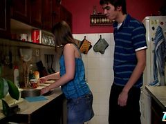 Hot Teenage Fucking In The Kitchen