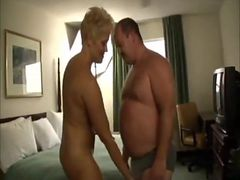 Bear fucks a woman in a hotel