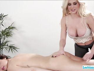 Naughty lesbians licking tight asshole