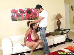 Brunette senorita Selena Star lets Brannon Rhodes insert his fuck stick in her mouth