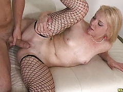 Missy gets her pussy pounded and her pussy squirts all over.