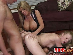 Avril gets her ass licked by her stepmom.