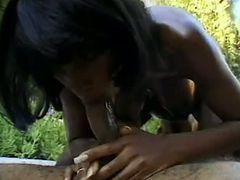 Pregnant Ebony Babe Takes A Pounding