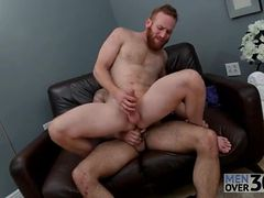 Redhead with a great beard fucked in the ass