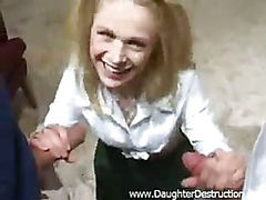 Double fucked daughter