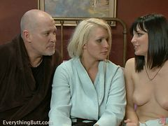 Hardcore Strapon Threesome with Two Horny Lesbians