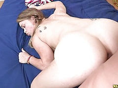 Madiison gets pounded in doggstyle and a spoon position.