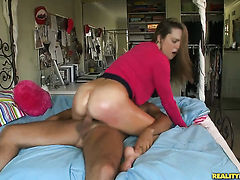Brunette Shyla Jameson is totally addicted to cock sucking and Voodoo knows it