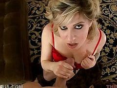 Blowjob blonde throated