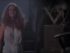 Hot Redhead Amanda Bearse Turns Into a Vampire and Shows Her Big rack
