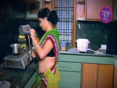 Indian Housewife Tempted Boy Neighbour uncle in Kitch...