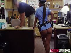 Sexy and beautiful Police officer get her big booty b...