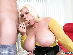Blonde Tiffany Blake and horny guy have whole lot of fun in this steamy action